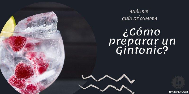 ¿Cómo preparar un Gintonic?