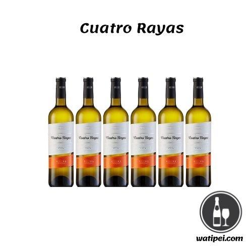 4.  Cuatro Rayas Verdejo Vendimia Nocturna - 6 Botellas de 750 ml - Total: 4500 ml