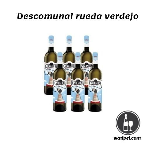 1. Vino blanco Descomunal Verdejo - Pack 6 botellas